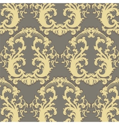 Vintage Floral Baroque ornament pattern vector image