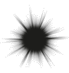 Halftone star burst EPS 10 vector image