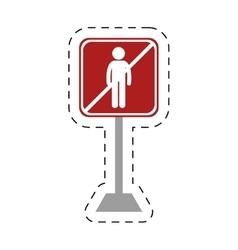 Traffic prohibited man person icon vector