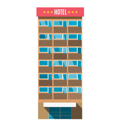 hotel room service resort business vacation vector image
