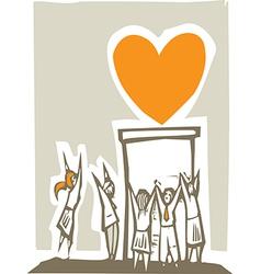 Worshiping Love vector image