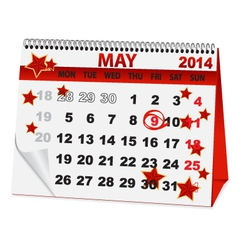 Icon calendar for may 9 vector