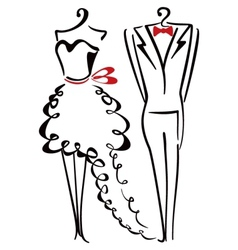 Elegance clothes vector