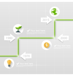 Timeline Business concept vector image