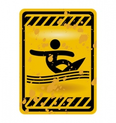 Surf area sign vector