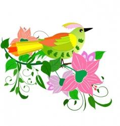 Flower bird vector