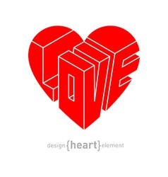 Love in heart original design element vector