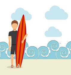 Surfing sport vector