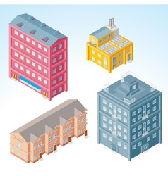 Isolated isometric buildings 2 vector