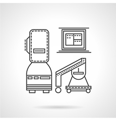 Mri equipment line icon vector