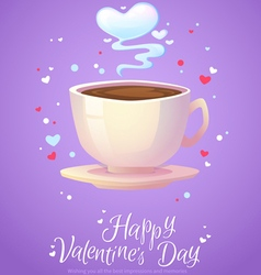 Romantic smoking morning coffee cup vector