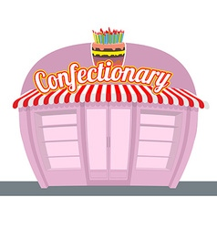 Confectionary shop sweets shop signage celebratory vector