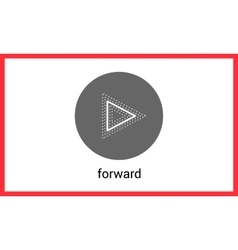 Forward button contour outline vector