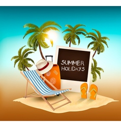 Summer holidays background vacation memories vector