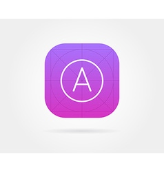 App Icon Template with Guidelines Fresh Colour vector image vector image