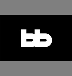 Bb b b black white bold joint letter logo vector