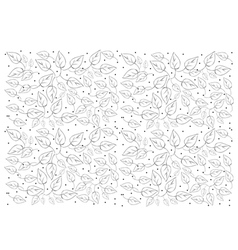 Beautiful white wallpaper with leaves pattern vector