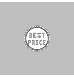 Best Price computer symbol vector image