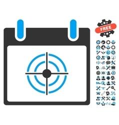Bullseye calendar day icon with bonus vector
