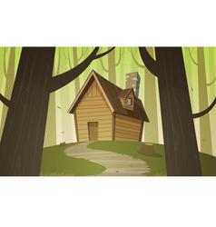 Cabin in woods vector