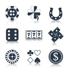 Casino black design elements vector image vector image