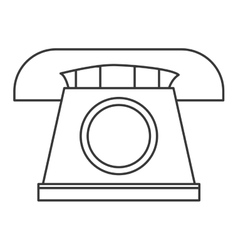 Classic rotary telephone icon vector