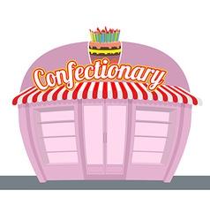 Confectionary shop sweets shop signage celebratory vector