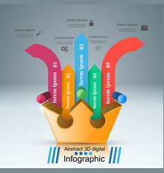 Crown icon business abstract infographics vector