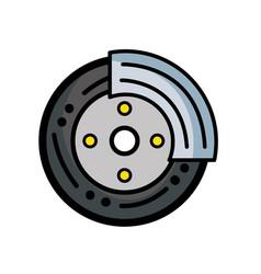 cute tire car style design vector image