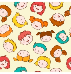 Doodle kids background vector image