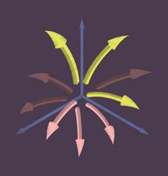 Flat shading style icon arrow chart vector