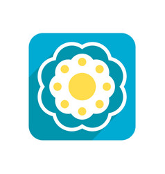 flower colored flat icon on a white background vector image