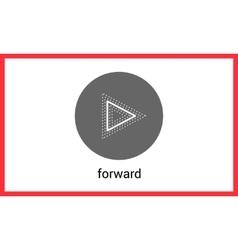 Forward button contour outline vector image