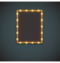 Frame with electric bulbs vector image