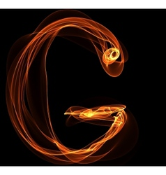 G letter in fire vector