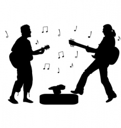 guitar rock stars vector image vector image