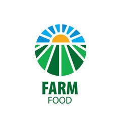 logo farm food vector image vector image