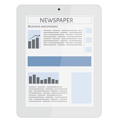 Mobile news tablet vector image