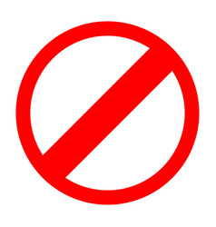 red sign entry prohibited icon vector image vector image