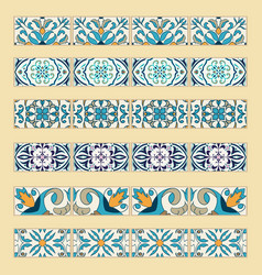 Set of decorative tile borders vector