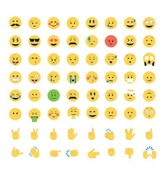 Set of emoticon isolated on white background vector image vector image