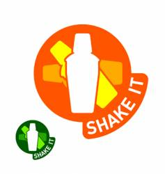 shake it vector image vector image