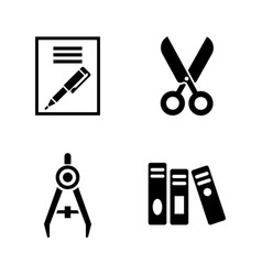 stationery simple related icons vector image