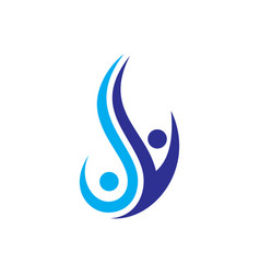 swirl human success logo image vector image