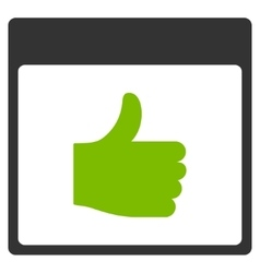 Thumb up calendar page flat icon vector