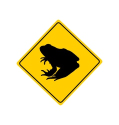 Toad migration warning sign vector