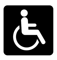 Wheel chair sign vector
