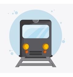 Train transportation vehicle travel vector