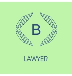 Set of elegant monogram design vector