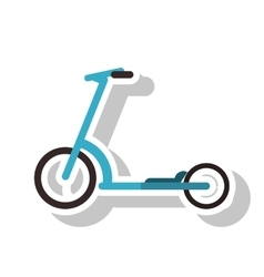 Isolated scooter vehicle design vector
